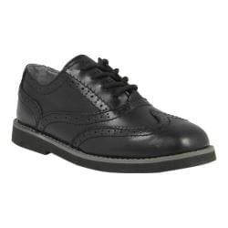 Boys' Florsheim Bucktown Wing Slip Jr. Black Smooth Leather