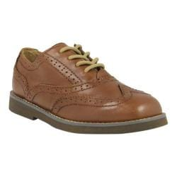 Boys' Florsheim Bucktown Wing Slip Jr. Cognac/Dark Brown Smooth Leather