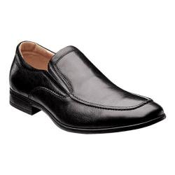 Men's Florsheim Burbank Moc Slip Black Milled Leather
