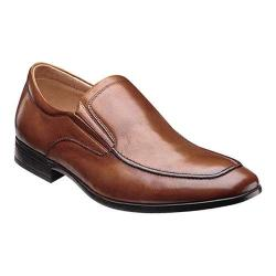 Men's Florsheim Burbank Moc Slip Cognac Milled Leather
