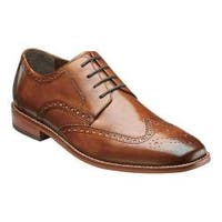 Men's Florsheim Castellano Wing Tip Saddle Tan Smooth Leather