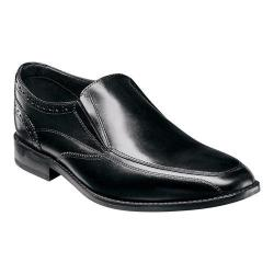 Men's Florsheim Castellano Moc Toe Slip On Black Smooth Leather