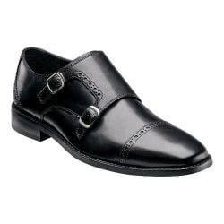 Men's Florsheim Castellano Monk Black Smooth Leather