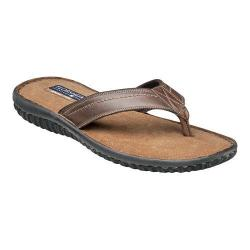 Men's Florsheim Coastal Thong Sandal Brown Crazy Horse Leather