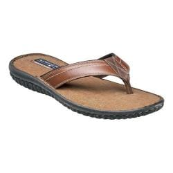 Men's Florsheim Coastal Thong Sandal Cognac Smooth Leather