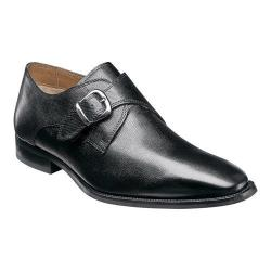 Men's Florsheim Sabato Plain Toe Monk Strap Ebony Printed Leather