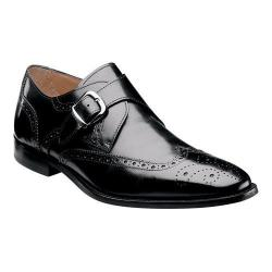 Men's Florsheim Sabato Wing Tip Monk Strap Black Leather