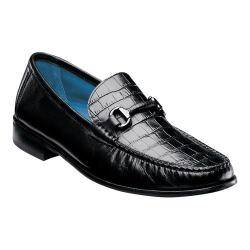 Men's Florsheim Sarasota Bit Black Smooth Croco Print Leather