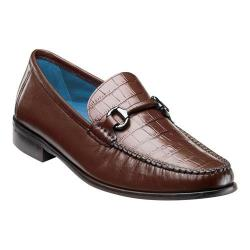 Men's Florsheim Sarasota Bit Cognac Smooth Croco Print Leather