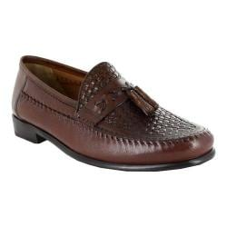 Men's Florsheim Swivel Weave Cognac Woven Leather/Milled Leather