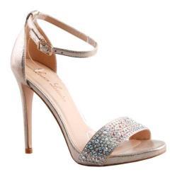 Women's Lauren Lorraine Arielle Ankle Strap Sandal Nude Fabric/Polyurethane