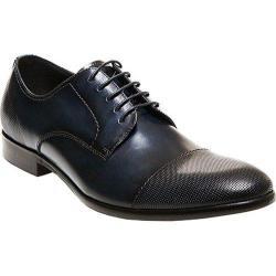 Men's Steve Madden Pasage Cap Toe Shoe Navy Leather