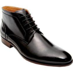 Men's Steve Madden Webbar Lace Up Boot Black Leather