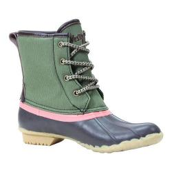Women's Western Chief Four Eye Nylon Duck Boot Green