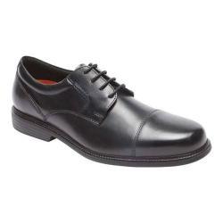Men's Rockport Charles Road Cap Toe Shoe Black Leather