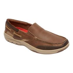 Men's Rockport Streetsailing Slip On Medium Brown Leather