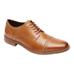 Men's Rockport Style Purpose Cap Toe Oxford Tan Leather