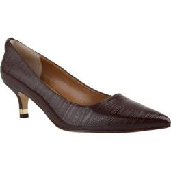 Women's J. Renee Braidy Pump Chestnut Crinkle Patent Leather