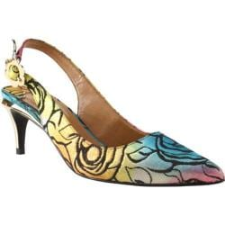 Women's J. Renee Pearla Slingback Bright Multi Rosette Fabric