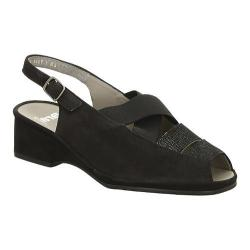 Women's ara Rumor 37034 Black Nubuck/Metallic