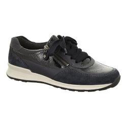 Women's ara Hollis 44526 Sneaker Navy Patent/Suede Combo