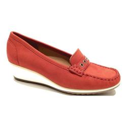 Women's ara Naomi 30936 Moccasin Red Nubuck