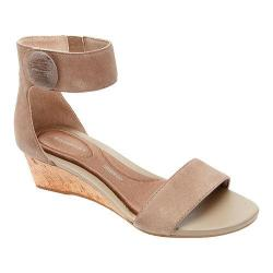 Women's Rockport Total Motion 55mm Stone Ankle Strap Sandal Tuffet Leather