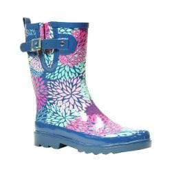 Women's Western Chief Big Bloom Mid Rain Boot Navy