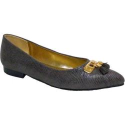 Women's Bellini Fritz Tassel Flat Grey Lizard Fabric