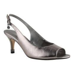 Women's J. Renee Gardenroad Open Toe Slingback Taupe Metallic Nappa