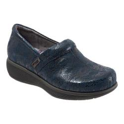 Women's SoftWalk Meredith Clog Navy Lace Leather