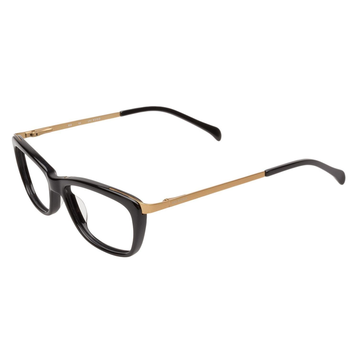 e8b0ea3a82 Shop Jai Kudo 1851 P01 Black Gold Prescription Eyeglasses - Ships To ...