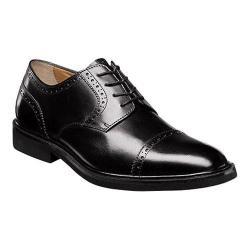 Men's Florsheim Hamilton Cap Toe Oxford Black Smooth Leather