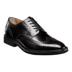 Men's Florsheim Hamilton Wingtip Oxford Black Smooth Leather
