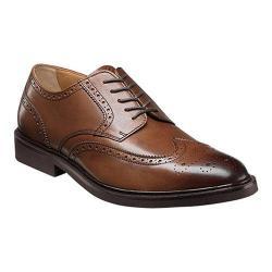 Men's Florsheim Hamilton Wingtip Oxford Cognac Smooth Leather