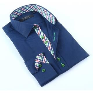 Coogi Mens Navy Checkered Dress Shirt https://ak1.ostkcdn.com/images/products/12200703/P19048423.jpg?impolicy=medium