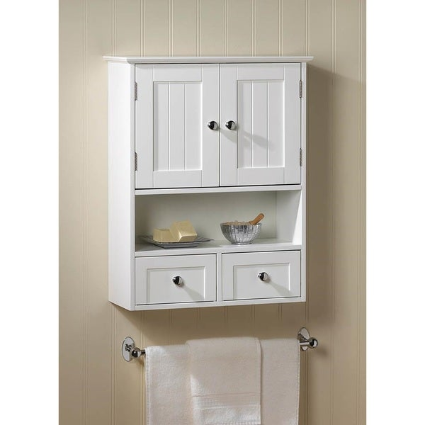 Shop Olympia White Wall Mounted Display Cabinet Free