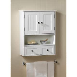 Wall Mounted Bathroom Cabinet. Olympia White Wall Mounted Display Cabinet