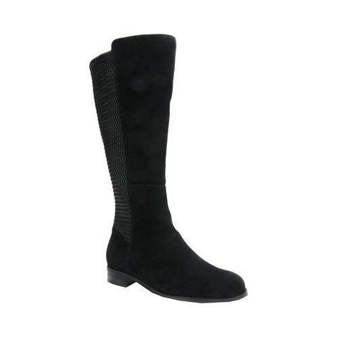 Women's Ros Hommerson Bianca Tall Wide Calf Boot Black Suede