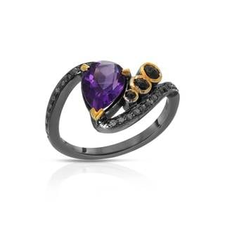 Sterling Silver 1 7/8ct TW Amethyst Ring (Size 6)