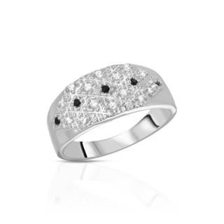 Cubic Zirconia Sterling Silver Ring (Size 9.5)