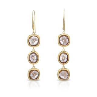 Tagliamonte Gold over Silver Cameo Earrings