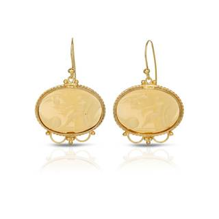 Tagliamonte Gold over Silver Venetian Glass Earrings