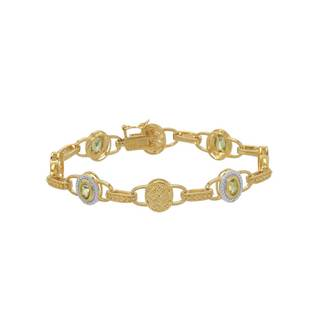Gold-plated Silver 1.70-carat Peridot Bracelet