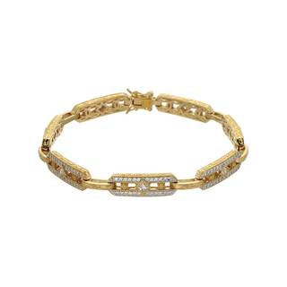 Gold-plated Silver & Cubic Zirconia Bracelet