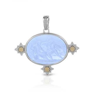 Tagliamonte Two-tone Gold over Silver Venetian Glass Pendant