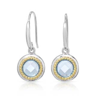 Gold over Silver 1 3/5ct TW Topaz Earrings