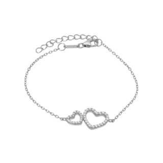 McCarney & J Cubic Zirconia Sterling Silver Bracelet