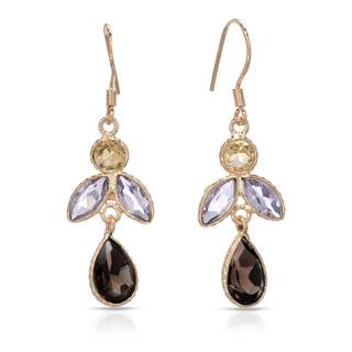 Gold over Silver 6 1/2ct TW Amethyst Earrings