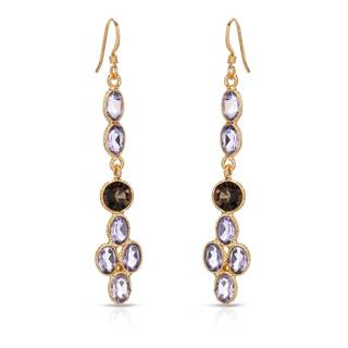 Gold over Silver 5 3/4ct TW Amethyst Earrings